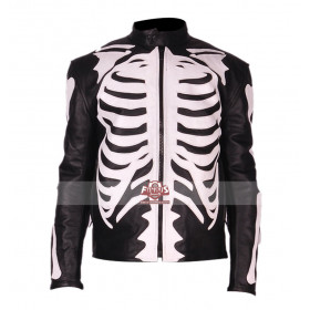 Rob Zombie Skeleton Sketch Biker Leather Jacket