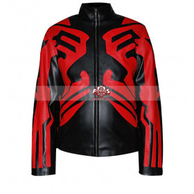 Star Wars Darth Maul Cafe Racer Leather Jacket