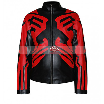 Star Wars Darth Maul Cafe Racer Leather Jacket