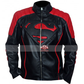 Smallville Superman Red/Black Designer Leather Jacket