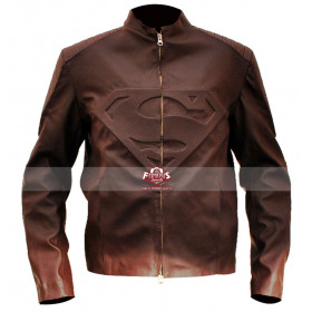 Superman Smallville Brown Leather Jacket