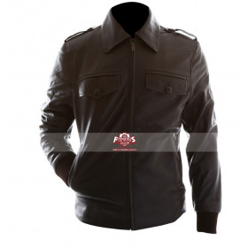 Avengers Steve Rogers Brown Motorcycle Leather Jacket
