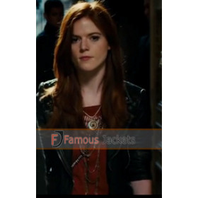 The Last Witch Hunter Rose Leslie	 (Chloe) Black Jacket