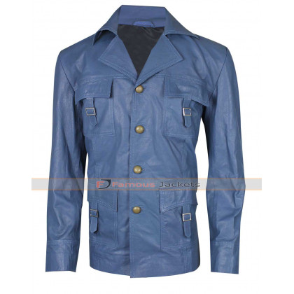 The Nice Guys Russell Crowe Blue Leather Jacket