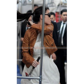 The Raid 2 Julie Estelle (Alicia) Brown Leather Jacket