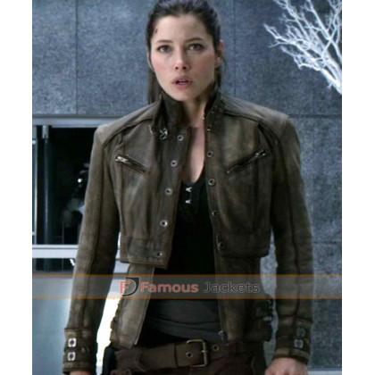 Jessica Biel Melina Leather Jacket Total Recall
