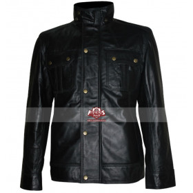 Welcome To The Punch James McAvoy Black Leather Jacket