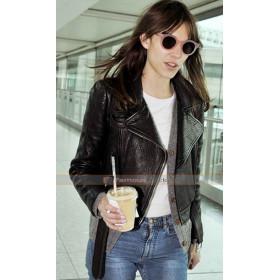 Alexa Chung Biker Leather Jacket