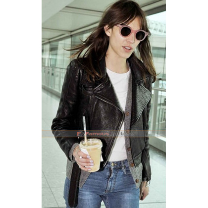 Alexa Chung Biker Leather Jacket