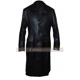 Angel David Boreanaz Black Trench Leather Coat