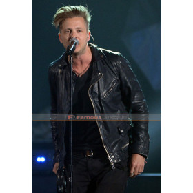 Ryan Tedder Billboard Black Leather Jacket