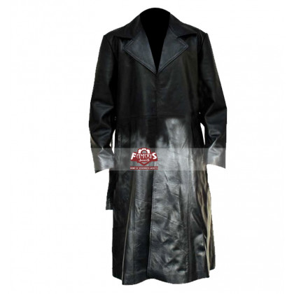 Blade Wesley Snipes Trench Leather Coat Costume