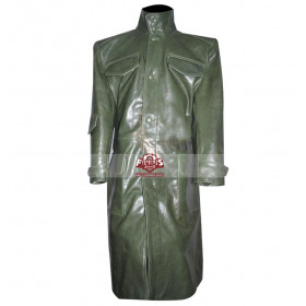 The Bourne Supremacy Green Leather Coat