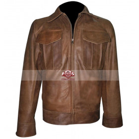 Copper Rub-Off Vintage Leather Jacket