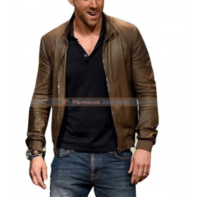 Deadpool 2016 Ryan Reynolds Comic Con Brown Leather Jacket