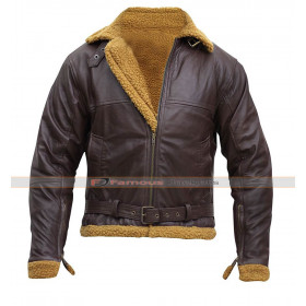 Dunkirk Tom Hardy (Farrier) Fur Brown Leather Jacket