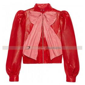 Hilary Erhard Duff Stylish Red Leather Jacket