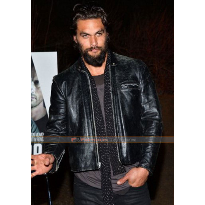 Jason Momoa Vest: Jason Momoa Leather Black Jacket
