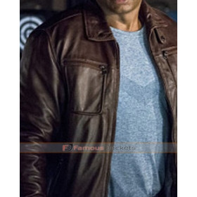 Arrow S4 David Ramsey Brown Leather Jacket