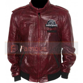 Jurassic World Patch Designer Bomber Leather Jacket