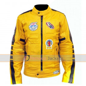 Kill Bill Uma Thurman Yellow Motorcycle Jacket Replica