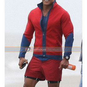 Baywatch Mitch Buchannon Red & Blue Jacket