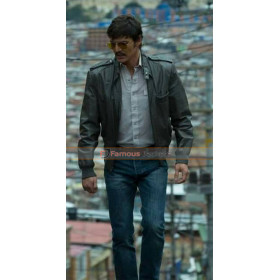 Narcos Pedro Pascal Biker Leather Jacket