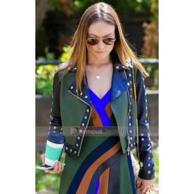 Olivia Wilde Biker Leather Jacket