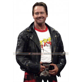WWE Wrestler Roddy Piper Biker Leather Jacket