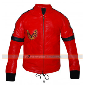Smokey and Bandit Burt Reynolds Trans am Logo Red Jacket