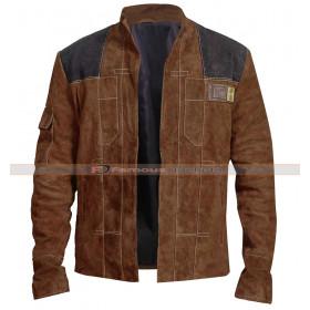 Han Solo A Star Wars Story Alden Ehrenreich Borwn Jacket