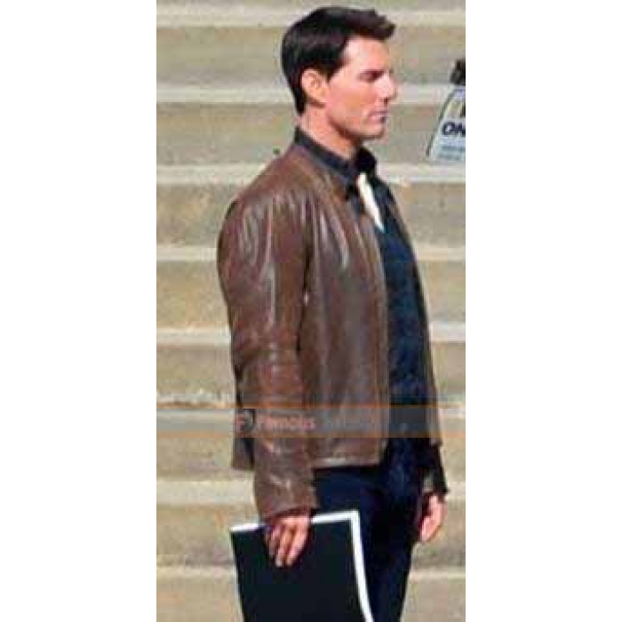 Cruise Jack Reacher Brown Leather Jacket