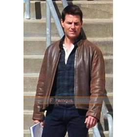 Tom Cruise Jack Reacher Brown Leather Jacket
