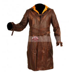 Watch Dogs Aiden Pearce Cosplay Distressed Leather Coat