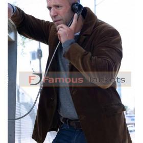 Wild Card Jason Statham Brown Suede Leather Jacket
