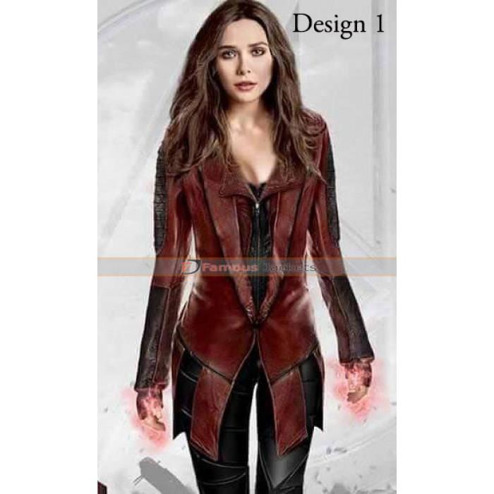 America Civil War Scarlet Witch Coat Costume