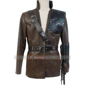 Dark Archer Arrow Malcolm Merlyn Brown Leather Jacket