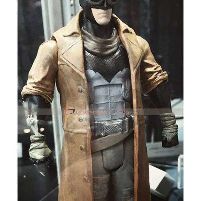 Batman v Superman Dawn of Justice Nightmare Distressed Brown Leather Coat