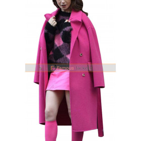 TV Series Emily In Paris (Emily Cooper) Pink Coat