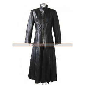 The Matrix Reloaded Carrie‑Anne Moss (Trinity) Trench Coat