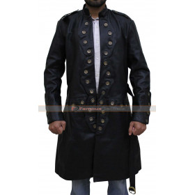 Will Turner Pirates Caribbean 5 Orlando Bloom Trench Leather Coat