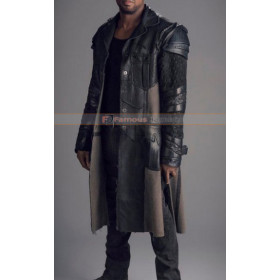 Roger R. Cross (Six) Dark Matter TV Series Trench Leather Coat Costume
