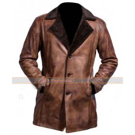 Wolverine Hugh Jackman Fur Trench Coat