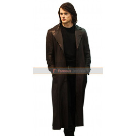 Dimitri Belikov Brown Leather Trench Coat
