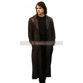 Dimitri Belikov Brown Leather Trench Coat