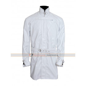 Watch Dogs Aiden Pearce White Trench Gaming Coat