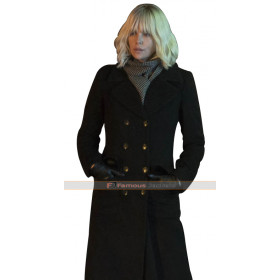 Lorraine Broughton Atomic Blonde Black Coat