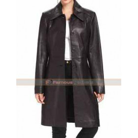 BGSD Women's New Zealand Lambskin Leather Walking Coat