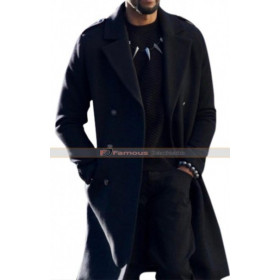Black Panther Chadwick Boseman T Challa Black Coat