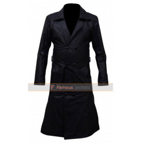 Buffy The Vampire Slayer Spike Trench Leather Jacket Coat
